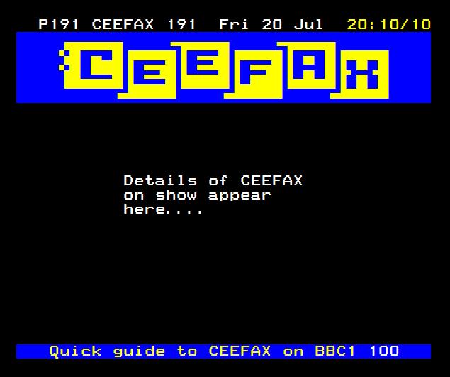 Ceefax On Show 1979