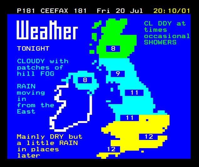 Ceefax Weather 1979
