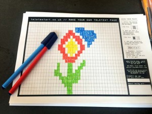 Teletext Block Party worksheets
