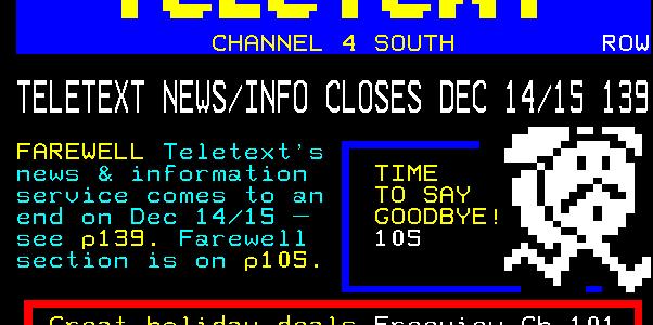 Remembering Teletext Ltd, the \u0027world\u0027s largest TV text service\u0027 nine