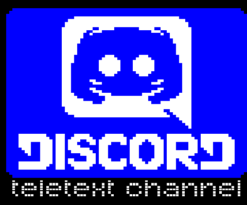 Discord logo in teletext by wimpie3